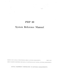 PDP-10 System Reference Manual (May 1968)