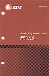 AT&T 6300 System Programmer's Guide (1985)