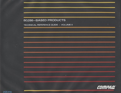 COMPAQ 80286-Based Products Technical Reference Guide (Volume II, May 1987)