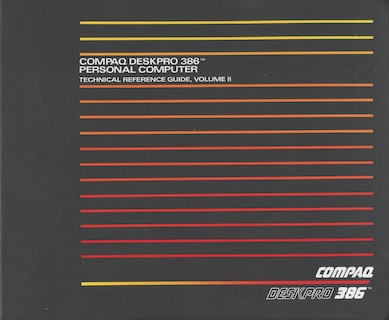 COMPAQ DeskPro 386 Technical Reference Guide (Volume II, Sep 1986)