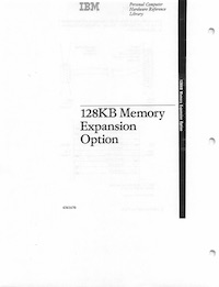 IBM 5170 128KB Memory Expansion