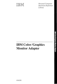IBM Color/Graphics Monitor Adapter