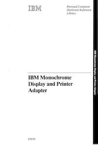 IBM Monochrome Display and Printer Adapter