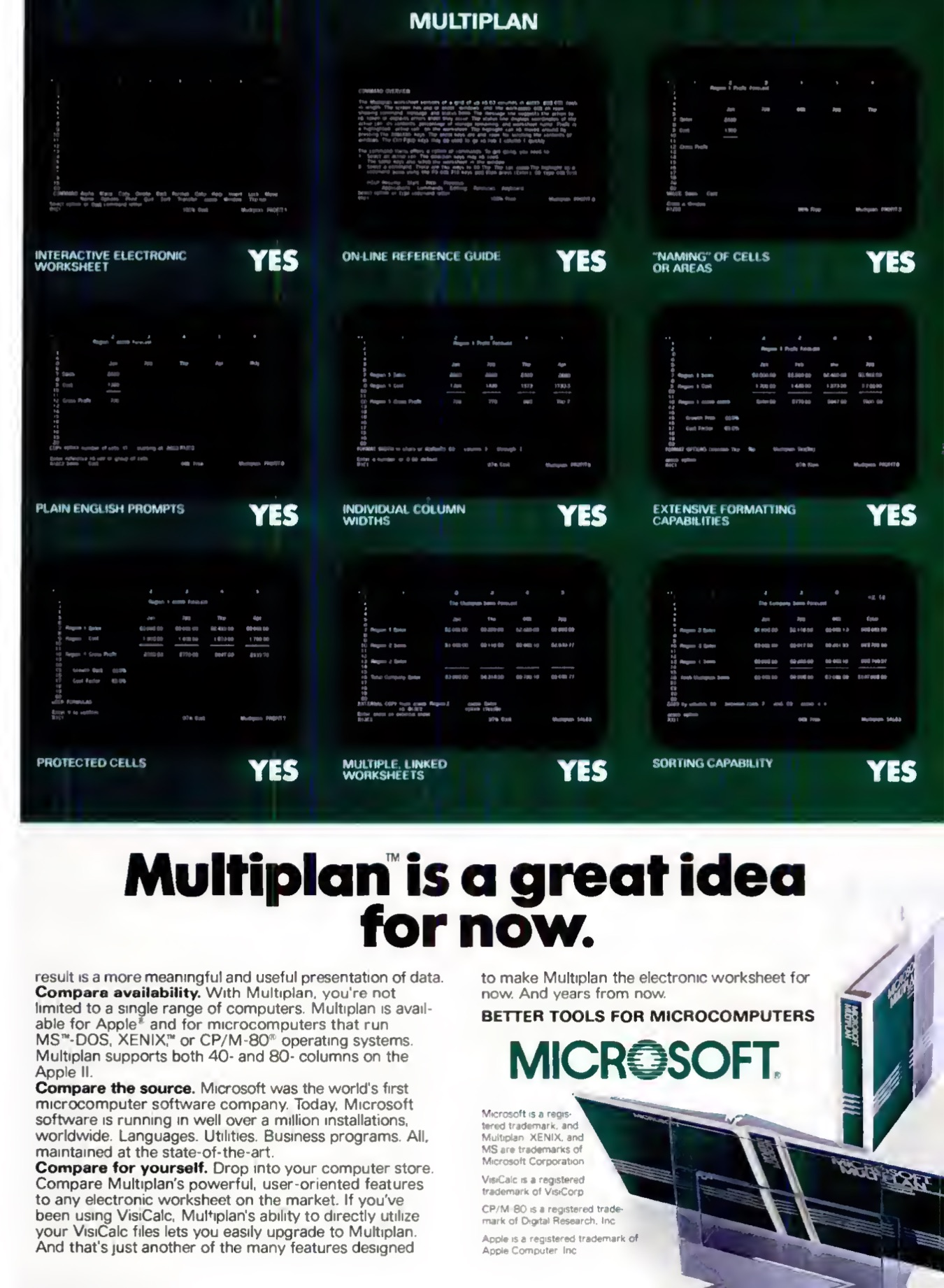 Multiplan Advertisement (2 of 2)