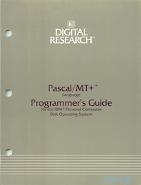 Pascal/MT+ Programmer's Guide