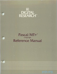 Pascal/MT+ Reference Manual