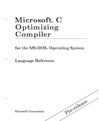 MS C 5.0 Language Reference (1987 PRE)