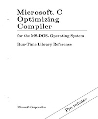 MS C 5.0 Run-Time Library Reference (1987 PRE)