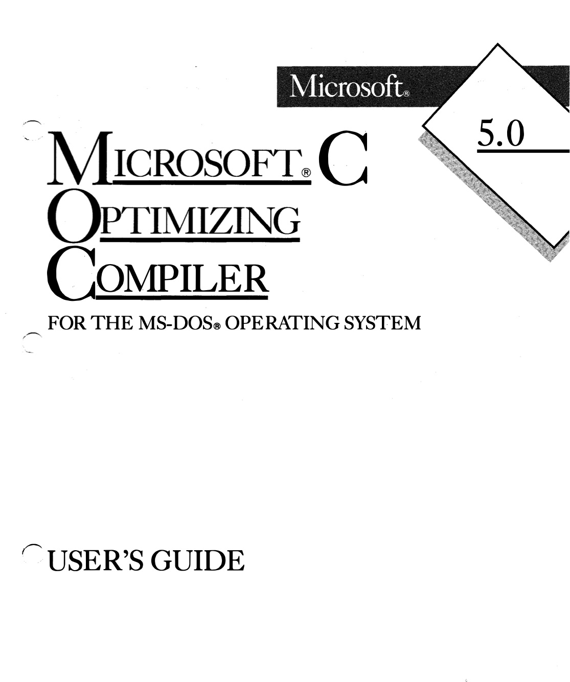 MS C 5.0 User's Guide (1987)