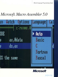 MASM 5.00 Mixed-Language Programming Guide