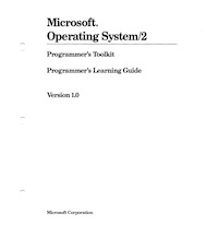 MS OS/2 Toolkit Learning Guide (1988)
