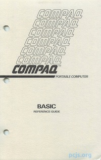 COMPAQ BASIC Reference Guide (Dec 1982)