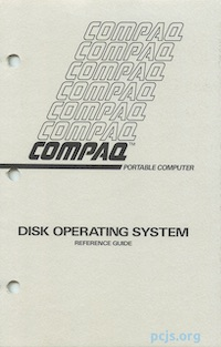 COMPAQ MS-DOS Reference Guide (Dec 1982)