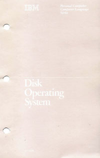 IBM PC Disk Operating System 1.00